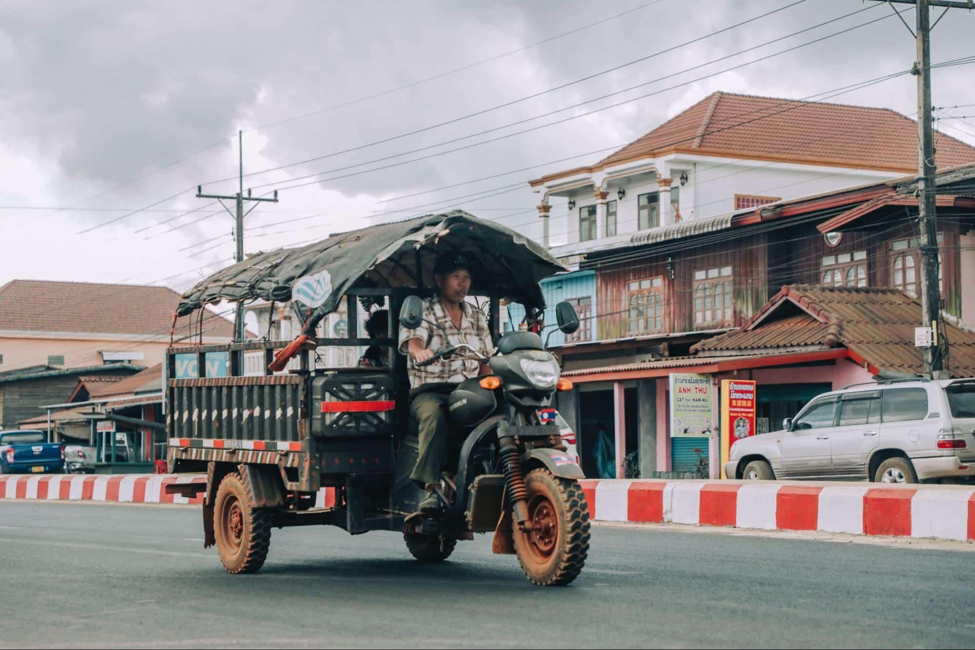 A Motorised Tuk Tuk in Chiang Mai