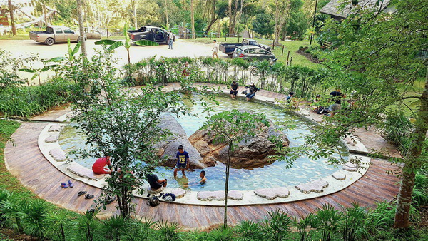 The Biggest Hot Spring in Northern Thailand