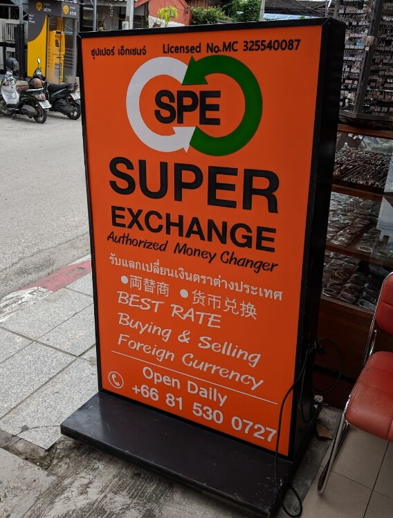 The most popular money exchange in Chiang Mai-  Super Exchange
